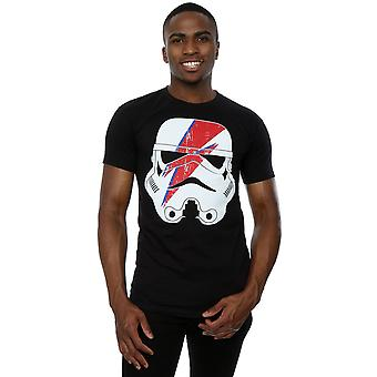 Star Wars Men's Stormtrooper Glam Lightning Bolt  T-Shirt