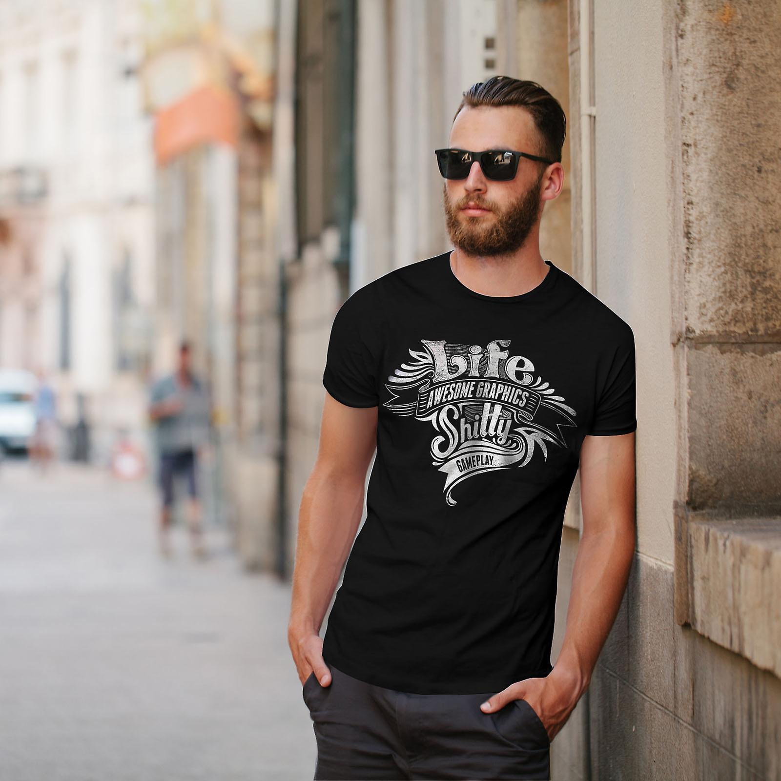 Life Bad Gameplay Men BlackT-shirt   Wellcoda