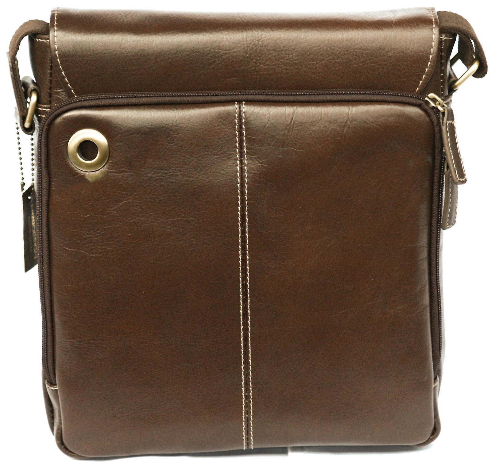 Soft Leather Cross Body Shoulder Bag Tablet Pocket Case Messenger Men Ladies
