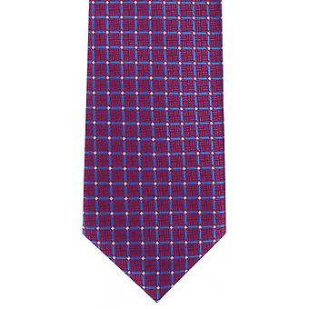 Michelsons of London Lattice Check Polyester Tie - Pink