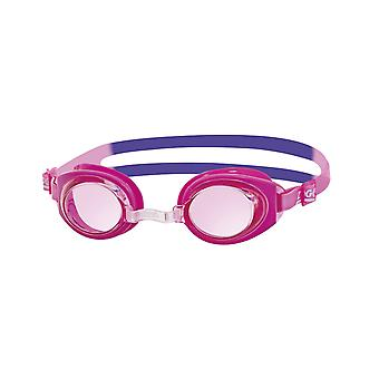 Zoggs Ripper Junior Swim Goggle 6-14yrs- Tinted Lens - Pink/Purple Frame