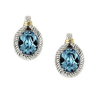 Kolczyki w 925 srebra i kryształów Swarovski Elements niebieski