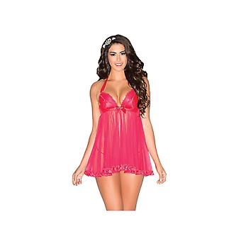 Be Wicked BW1578 Plunging Babydoll with Satin Straps