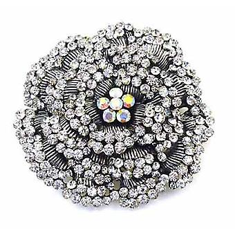 Brooches Store Large Crystal Layered Rose Flower Brooch