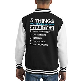 Five Things You Should Know From Star Trek Kid's Varsity Jacket