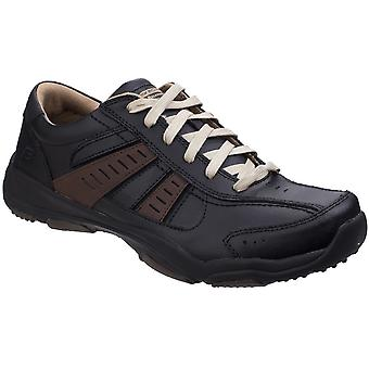 Skechers Mens Larson Nerick Leather Lace Up Casual Trainer Shoes