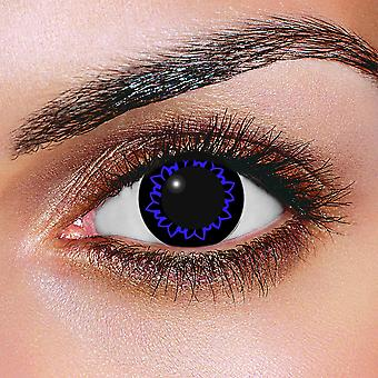 Big Eye Butterfly Blue Contact Lenses (Pair)