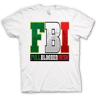 Mens T-shirt - St Patricks Day - FBI - Full Blood Irish