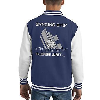 Synchronizowanie statek proszę czekać Kid uniwerek kurtka