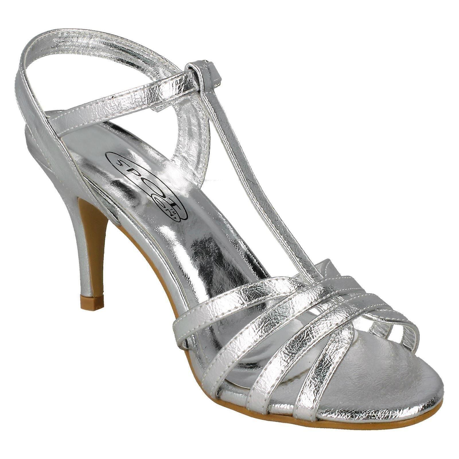 High Sandals UK 6 39 Spot Size Size 8 Ladies Metallic On Heel US Size EU Silver F10837 Foil Metallic 47EcvXqcZ