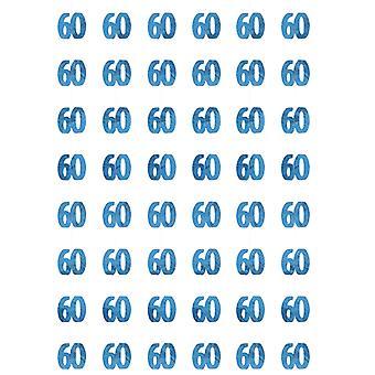 Anniversaire Glitz bleu - 60e anniversaire prisme suspendus décoration