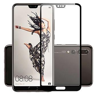 4 d premium 0.3 mm H9 tempered glass black foil for Huawei P20 protection cover new
