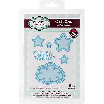 Creative Expressions Craft Dies By Sue Wilson-Fillables-Twinkle Twinkle Clouds & Stars