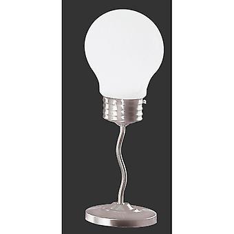 Trio Beleuchtung Edison moderne Nickel Matt Metall Tischlampe