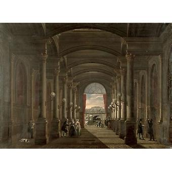 Interior of the Gare Saint-Lazare (oil on.. - Art Canvas