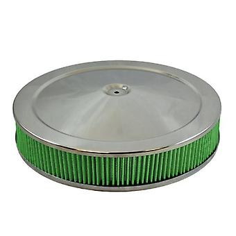 Green Filter 2343 Chrome High Performance Air Cleaner Assembly for 3