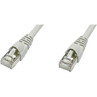 RJ45 ネットワーク ケーブル猫 5 e F/UTP 3 m グレー難燃性、税込ストッパー Telegärtner