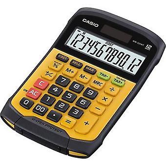 De Calculator van het Bureau Casio WM-320MT geel-zwarte vertoning (cijfers): 12 zonne-aangedreven, batterij-aangedreven (W x H x D) 145 x 36 x 195 mm