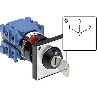 Kraus & Naimer CH10 A211-600 FT2 V750D 3H Changeover switch 20 A 1 x 60 ° gris, noir 1 pc(s)