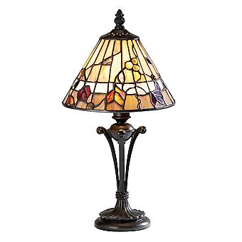 Interiors 1900 Bernwood Rustic Leaves Style Tiffany Bedside Lamp