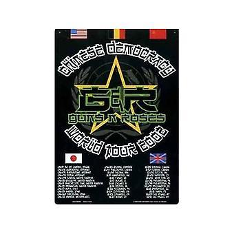 Guns And Roses World Tour 2002 Metal Sign