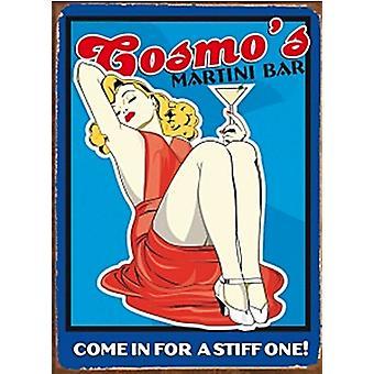 Cosmo в баре Martini металлический знак