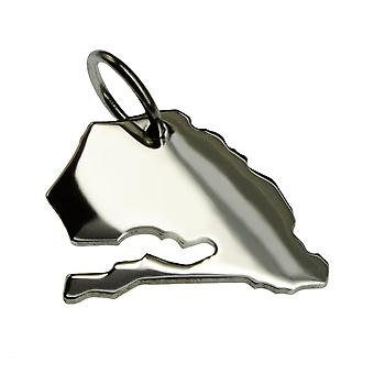 Trailer map SENEGAL pendant in solid 925 Silver