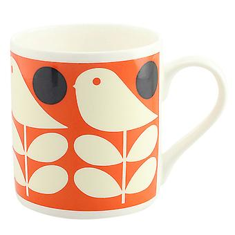 Orla Kiely Early Bird Orange China Mug