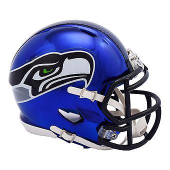 Riddell mini voetbal helm - NFL Seattle Seahawks CHROME
