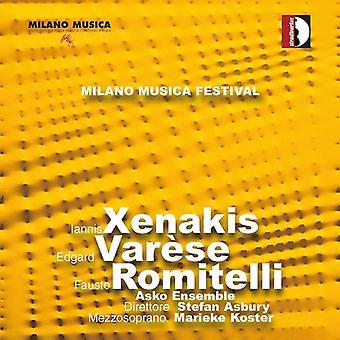 I. importación de USA de Xenakis - Festival Milano Musica en vivo, Vol. 2 [CD]