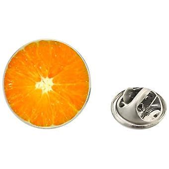 Bassin and Brown Orange Fruit Jacket Lapel Pin - Orange