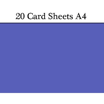 20 Royal Blue A4 Card Sheets for Crafts | Coloured Card for Crafts