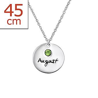 August birthstone - 925 Sterling Silver Jewelled Necklaces - W30221x