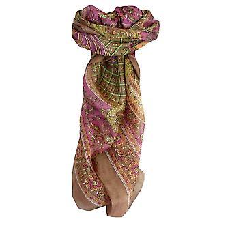 Шелковица шелка традиционными квадратный шарф Vaan карамель, пашмины & шелка