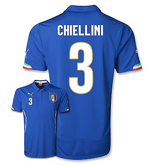2014-15 Italy World Cup Home Shirt (Chiellini 3)