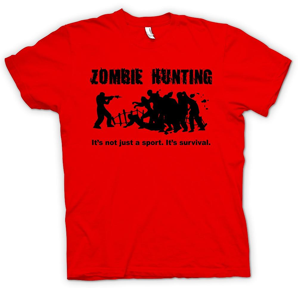 Mens t-shirt - Zombie caccia Sport - Commedia Horror