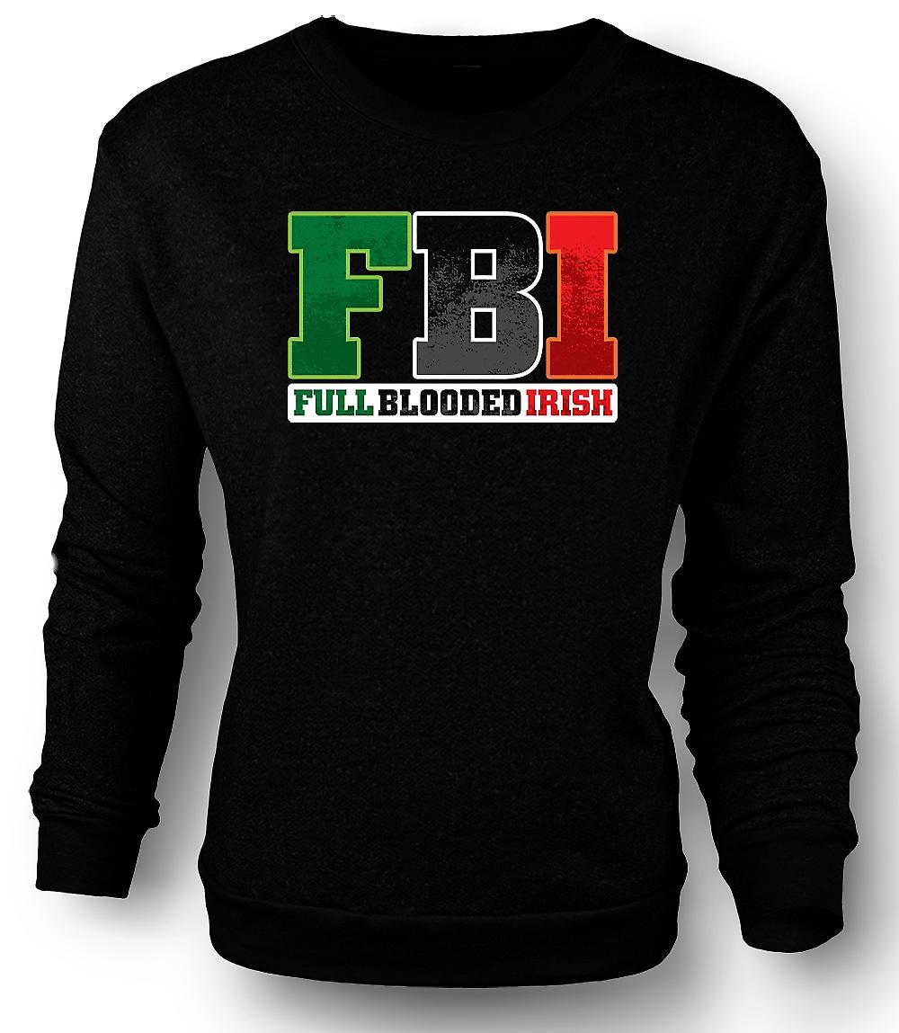 Mens Sweatshirt St Patricks Day - FBI - Full sang irlandais