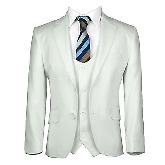 Boys Ivory / Off-white Formal Communion Slim Fit Suits