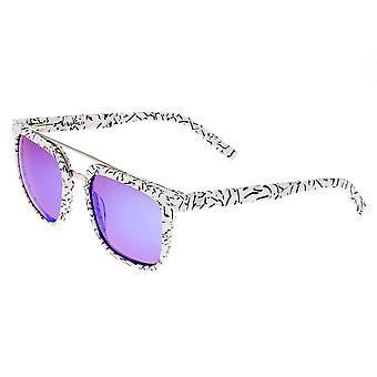 Sessantuno Lindquist Polarized Occhiali da sole - marmo bianco/viola-blu