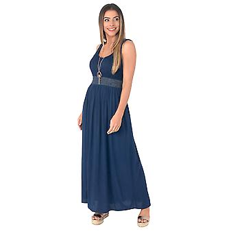 KRISP  Women Soft Cotton Pleated Long Maxi Dress Flared Gypsy Gown Boho Summer Festival