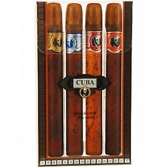 CUBA VARIETY Set-4 piece variety with cuba gold, blue, red & orange & all are edt spray 35 ml