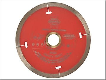 Faithfull Diamond Tile Blade Red Continuous Rim 105mm x 22.2mm