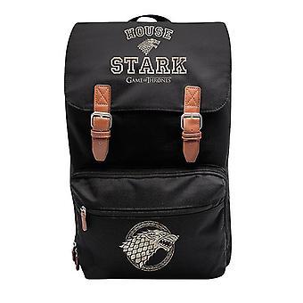 Juego de negro marcado de la mochila de tronos XXL, impreso, 100% polyester, con cierre magnético.