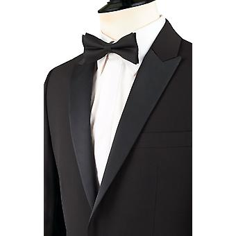 Dobell Mens Black Tuxedo Dinner Jacket Slim Fit Peak Lapel