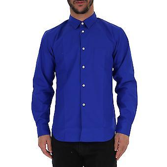 Comme Des Garçons Blue Cotton Shirt