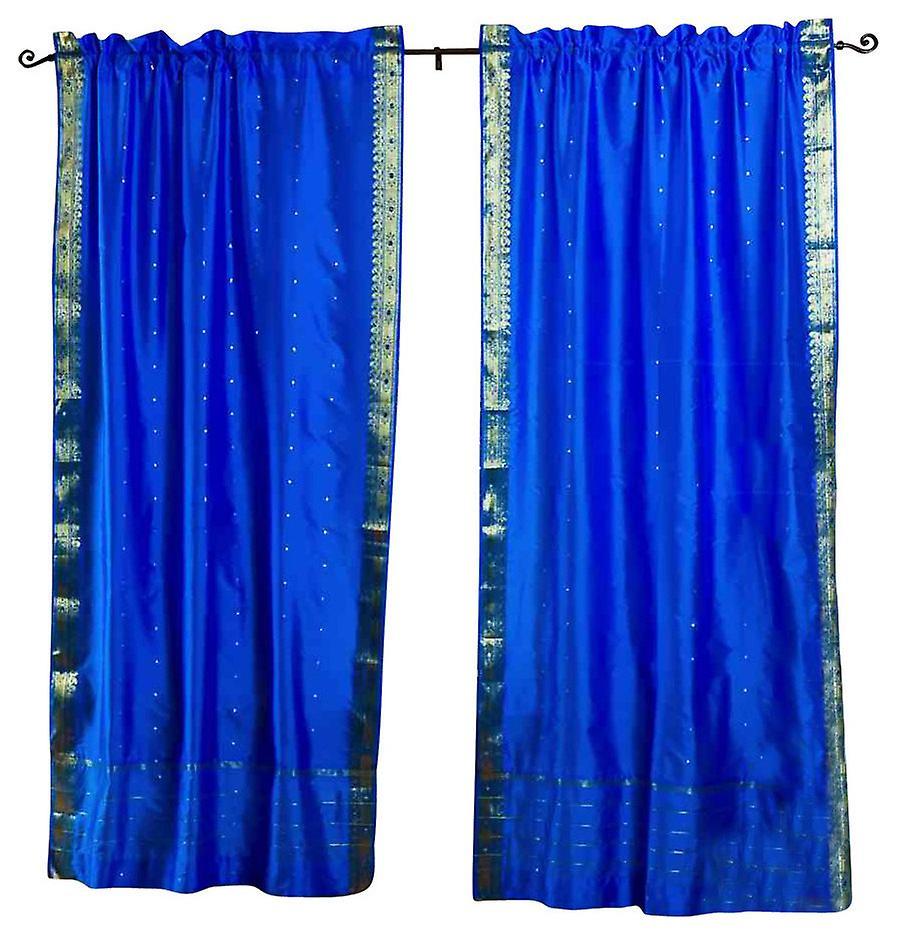 RideauDrape Pure Sari PanneauPièce Bleu Rod Poche 4RAj53Lq