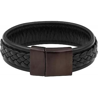 Bracelet Clio Blue BR2163S-BLACK - dark brown leather steel man Bracelet