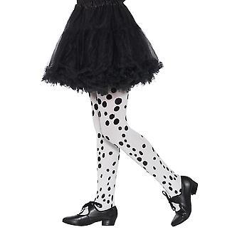 Kinderen panty's Dalmatische patroon carnaval accessoire