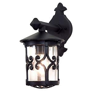 Elstead BL8 BLACK Hereford Traditional Small Rigid Tube Exterior Wall Down Lantern