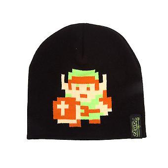 The Legend of Zelda 8-Bit Link Pixel Design Beanie Hat